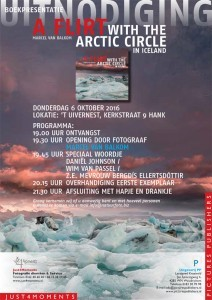 "uitnodiging boek presentatie ""a flirt with the arctic circle in Iceland"""
